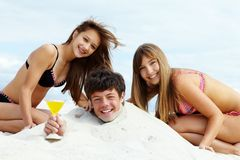 Party on sand Stock Images