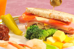 Party sandwich and extras Royalty Free Stock Photography