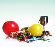 Party Scene. Bright and colorful party scene with champagne royalty free stock photos