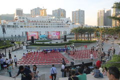 The party scene in the Sea World Plaza in SHENZHEN Stock Image