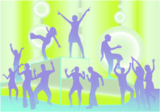 Party Scene - Vector Illustration Royalty Free Stock Photos