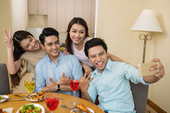 Party selfie Stock Image