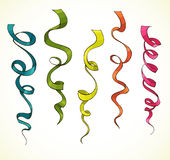 Party serpentine. Ribbons. Celebration. vector Stock Image