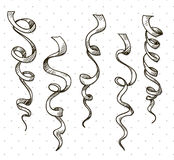 Party serpentine. Ribbons. Celebration. vector. EPS 10 Royalty Free Stock Photos