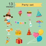 Party set Royalty Free Stock Photo
