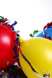 Party Setting. Bright and colorful party scene with streamers Royalty Free Stock Photo