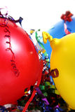 Party Setting. Bright and colorful party scene with streamers Royalty Free Stock Image