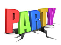 Party sign Royalty Free Stock Images