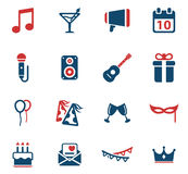 Party simply icons Stock Photo