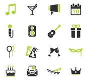 Party simply icons Stock Images