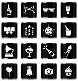 Party simply icons Royalty Free Stock Photos