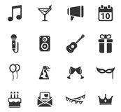 Party simply icons Royalty Free Stock Image