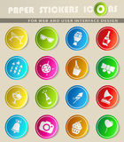 Party simply icons Royalty Free Stock Photography