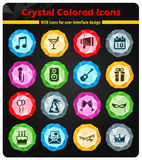 Party simply icons Stock Photography
