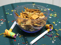 Party snack mix close up Stock Photography