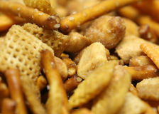 Party snack mix macro Stock Image