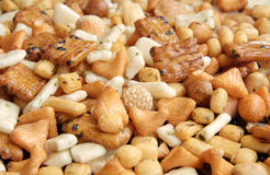 Party Snack Mixes royalty free stock image