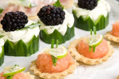 Party snacks Stock Images
