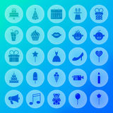 Party Solid Circle Icons Royalty Free Stock Photo