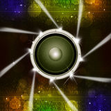 Party Sound Speaker with Spotlights Royalty Free Stock Photo