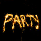 Party with sparklers Stock Photography