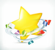 Party, star and confetti Royalty Free Stock Image