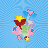 Party stars with blue background. Royalty Free Stock Photos