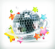 Party, stars and disco ball Royalty Free Stock Photography