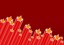 Party stars with red background. Stock Images