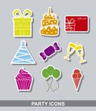 Party stickers Stock Photo