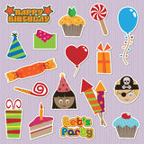 Party stickers Royalty Free Stock Photography
