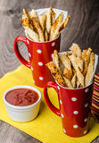 Party sticks from puff pastry Stock Photo