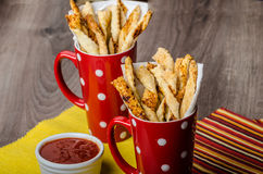 Party sticks from puff pastry Royalty Free Stock Photo