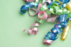 Party Streamer Background. For Birthday Holiday Themes Stock Photography