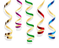 Party streamers. Royalty Free Stock Images