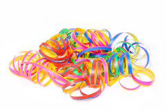 Party streamers. Colorfull party streamers isolated on white background royalty free stock image