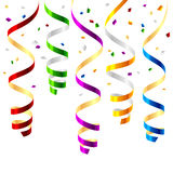 Party streamers stock illustration