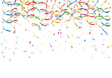 Party streamers and confetti Royalty Free Stock Photos