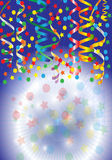 Party Streamers With Confetti Stock Image