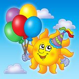 Party sun on sky Royalty Free Stock Photography