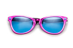 Party sunglasses. Isolated on the white Royalty Free Stock Photography