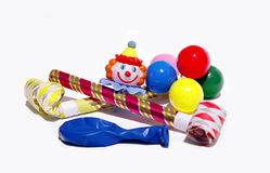 Party supplies. Decorative supplies for a child's party royalty free stock photos