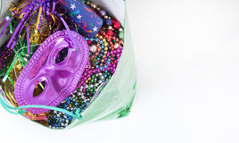Party supplies in bag Stock Images