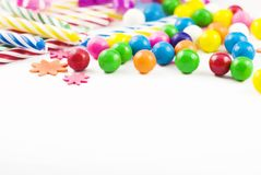 Party Supplies copy space Royalty Free Stock Photos