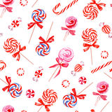 Party sweets watercolor seamless vector pattern Royalty Free Stock Photo