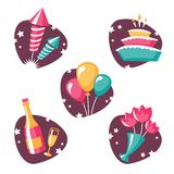 Party symbols set1 Stock Photography