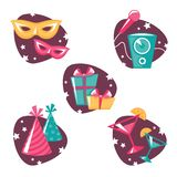 Party symbols set2 Stock Images