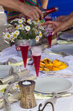 Party table Stock Images