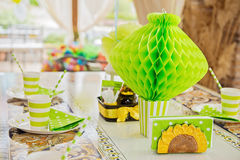 Party table for birthday Royalty Free Stock Image