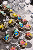 Party table catering, muffin dessert Stock Image